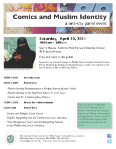 Comics and Muslim Identity at the Harvard University CMES