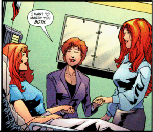 Scandal, Knockout, and Liana from Secret Six #36
